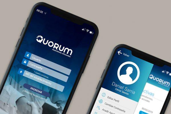 App móvil Quorum